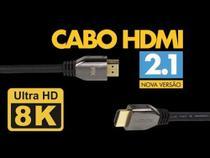 Cabo HDMI 8K 3 metros versão 2.1 chip sce - Pix