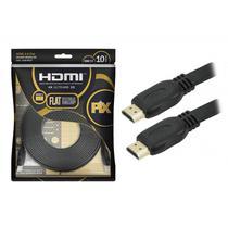 Cabo HDMI FLAT Pix 2.0 19 Pinos 4K 10 Metros Polybag 018-5027 - Chip sce