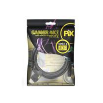 Cabo HDMI Gamer  2.0 4K HDR 19P 2M  Plug 90 Graus - Pix