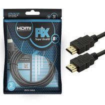 Cabo HDMI Gold 2.1 - 8K HDR 3M + NFe - Pix