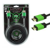 Cabo HDMI High Definition Interface 4 K Ultra HD 3D 3 metros - Pix
