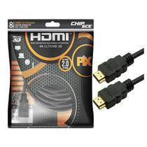 Cabo HDMI PIX 4K GOLD 2.0 HDR 19 pinos 8 metros  018-2228 -