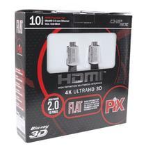 Cabo HDMI PIX Flat Desmontável 4K HD 2.0 10 Metros -