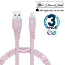 Cabo iPhone Chip Original, Certificado MFI 1,2 Metros Rosa i2Go -