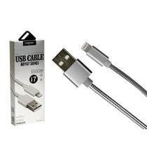 Cabo Iphone USB Metal 1 Metro Prata - Só na Global Time - Shinka