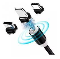 cabo magnético usb turbo max nylon carregador universal 3 in 1 top - Altomex
