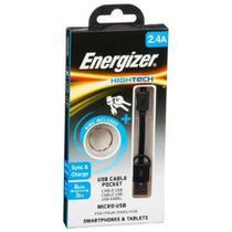 Cabo Micro Usb Original Energizer Pocket 8cm Hightech Preto -
