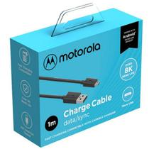 Cabo Motorola Turbo Power Micro Usb Moto C  1 Metro Garantia Resistente Carga Rápida Dados -