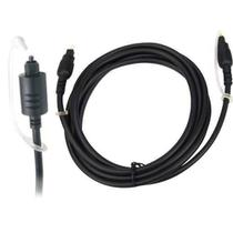 Cabo optico toslink 3 mts 28 awg metal -