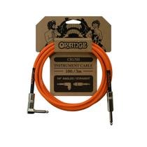CABO ORANGE CA035 CRUSH INSTRU CABLE 10ft ANGLED TO STRAIGHT -