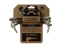 Cabo orange ca038 crush 6 patch cable 3-pack p10-angled 15cm -