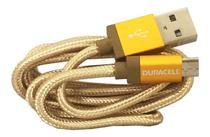 Cabo resistente micro usb 90cm dourado - duracell -