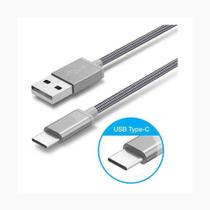 Cabo TIPO C USB Reforçado por malha de metal flexível - para celulares e smartphones - Webstore