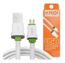 Cabo Usb Carregador Rapido Kaidi Original Para Iphone 5 5s 6 6s Plus 7 8 X