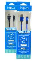 Cabo USB Carregar Celulares 2.4A V8 5832 Inova 3 Metros -