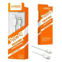 Cabo USB e Dados Tipo C Android - Kaidi KD-TC30 -