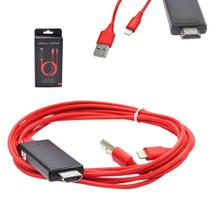 Cabo USB e HDMI para iPhone Lightning IPHONE5/HDMI Generico