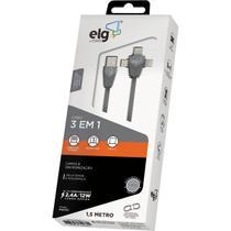Cabo USB Lightning+usb Tipoc+micro USB - Gna