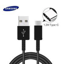 Cabo USB Samsung Tipo C Galaxy S20 Original - preto -