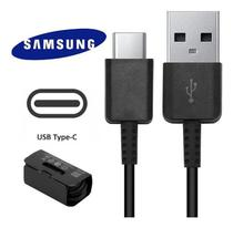 Cabo USB Tipo C Galaxy Samsung  A5 A7 A8 Plus A9 S8 S8+ S9 S9+ Note 8 9 Preto 100% Original -
