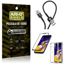 Cabo Usb Tipo C HS-302 Zenfone 5Z ZS620KL + Capinha + Película 3D - Armyshield -