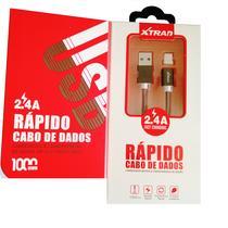 Cabo USB Tipo-C Magnético 1M 2.4A Recarga e Dados Rápidos Preto - Xtrad