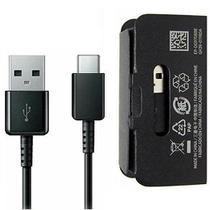 Cabo USB Tipo C Samsung Galaxy A5 A7 A8 Plus A9 S8 S8+ S9 S9+ Note 8 9 Cor: Preto -
