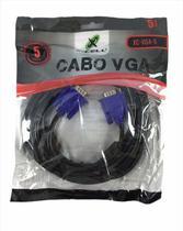 Cabo VGA Macho x VGA Macho, 5 metros, XC-VGA5, Preto, X-CELL -