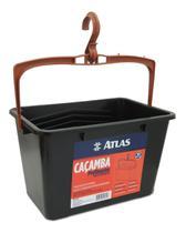 Cacamba Plástica Para Pintura C/ Alça e Gancho Atlas -