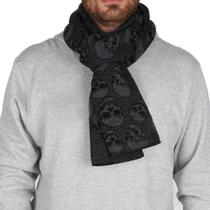 Cachecol Mcd New Skull Stripes - Preto -