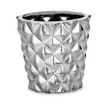 Cachepô Cerâmica 0 8Cm Prata 8640 Mart -