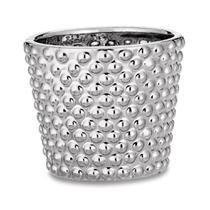 Cachepô Cerâmica 0 8Cm Prata 8643 Mart -