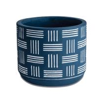 Cachepot Azul em Cimento - 9 x 10,5 cm (AxØ) - Mart