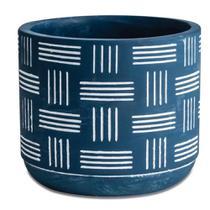 Cachepot de Cimento Azul 12,5x10,5cm Mart -