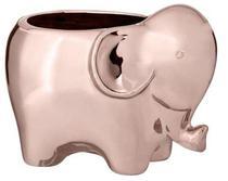 Cachepot elefante rose gold em ceramica 8621 Mart -