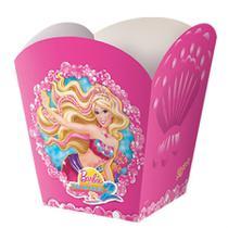 Cachepot para Lembrancinha Barbie Vida de Sereia 2 08 unidades Regina Festas -