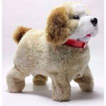 Cachorrinho Pelúcia Puppy Anda Late Cambalhotas Cachorro Divertido Fofo - Toys