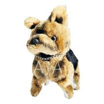 Cachorro Pelúcia Police Dog a Pilha Anda Pula Cambalhota Late - Toys
