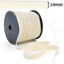 Cadarço Sarjado Cru (14mm) - 50m - Elásticos São José