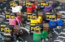 Cadeado 20 mm colorido (2 peças) - Piller