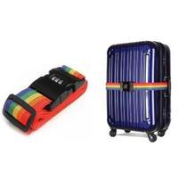 Cadeado cinta para fechar mala bagagem fita de segurança com senha - MAKEDA