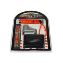 Cadeado trava disco pino c/ 5,5mm prata maxtrava max100 -