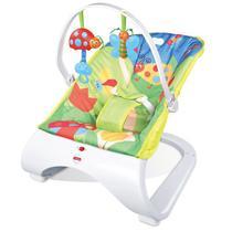 Cadeira Base Curva de Balanço Vibratória Descanso para Bebê Musical com Vibração e Som Importway BW095 AZUL -