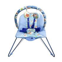 Cadeira Bebê Descanso Vibratória Musical Lite Azul - Baby style