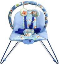 Cadeira Bebê Descanso Vibratória Musical Lite Azul - Baby Style -