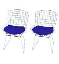 Cadeira Bertoia Cromada 2 Unidades - Elare -