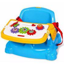 Cadeira Cadeirinha Alimentação Bebê  Portátil Didática Azul - Poliplac