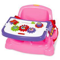 Cadeira Cadeirinha Alimentação Bebê  Portátil Didática Rosa - Poliplac