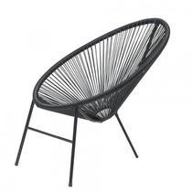 Cadeira Caribe Famais Ferro Artesanal - Preta -