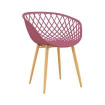 Cadeira com Braços Polipropileno Clarice Rivatti Cereja -